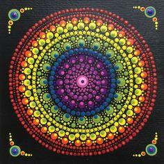 Dot Art Painting, Mandala Painting, Pottery Painting, Stone Painting, Mandala Doodle, Mandala Canvas, Mandala Rocks, Hippie Art, Colorful Paintings