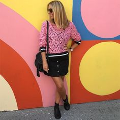 A bold color lace top is always stylish | 40plusstyle.com