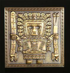 Antique Gold Tiahuanaco Gateway of the Sun Geocoin