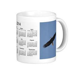 American Bald Eagle 2014 Bird Calendar Coffee Mug Design from Janz Art