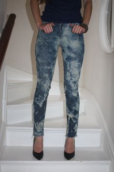 1000  images about How to Bleach Jeans on Pinterest | Polka dot ...
