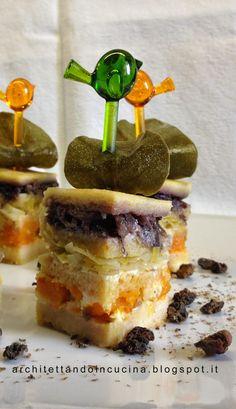architettando in cucina: Terrina di pane e verdure di Luca Montersino con foglia di cappero