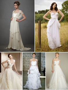 I like the dress on the top left... it reminds me of Elizabeth Bennet