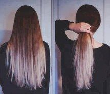Inspiring picture beautiful, dip dyed, hair, style, hairstyle, ombre, straight. Resolution: 500x377. Find the picture to your taste!