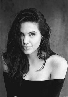Angelina Jolie celebrity actress and model portrait photograph #headshot #famous_people