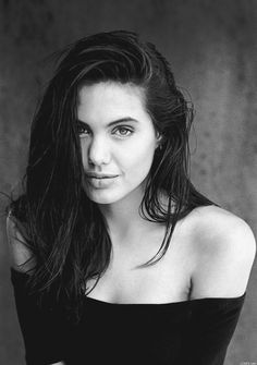 Angelina Jolie celebrity actress and model portrait photograph #headshot #famous_people