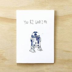 You R2 GooD 2 Me -- . Thank someone who's 2 good 2 you this Valenetine'sDay with this special R2D2 hand-made card. This is definitely the droid your looking for.   . Tag a Star Wars lover or just someone who's 2 Good 2 You . Available now at www.welldrawn.com.au for $5.95 with Free shipping Grab it now and have it arrive at your door before Valentine's Day.