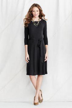 Women's Matte Jersey Pleat Neck Dress from Lands' End