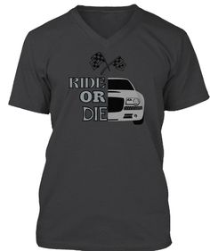 Ride Or Die Dark Grey Heather T-Shirt Front