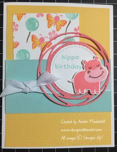 Make greeting cards, tags, and more with the darling critters in the Hippo Happiness Stamp Set. Pair with the Hippo & Friends Dies for easy coordination (and totally cute hippos!) Cute Hippo, Baby Hippo, Cute Baby Animals, Wild Animals, Kids Cards, Baby Cards, Tiger Cubs, Tiger Tiger, Bengal Tiger