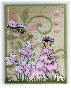 Prickley Pear Rubber Stamps; Rosebud Fairy; Inspiration Blooms