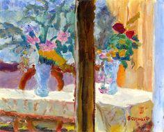Vase of Flowers / Pierre Bonnard - circa 1922
