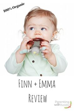 Thank you Parenting with Humility for your kind review on our Finn + Emma Organic Products.
