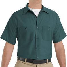 Men's Red Kap Classic-Fit Industrial Button-Down Work Shirt, Size: