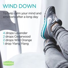 We all need help winding down after a long day sometimes. Whether it's stress at work, at home, or just a long on the job or with the kids, try diffusing the LAVENDER, CEDARWOOD, WILD ORANGE, and YLANG YLANG essential oils! It's an AMAZING blend! www.hayleyhobson.comhttp://www.naturalmavens.com/essential-oils-to-wake-up/