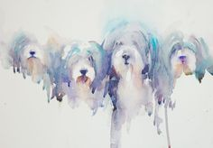 Jean Haines Watercolor Illustration, Watercolor Paintings, Watercolors, Watercolor Ideas, Bearded Collie Puppies, The Artist Magazine, Watercolor Animals, Art Festival, Dog Portraits