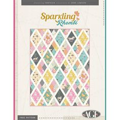 Sparkling Rhombi Free Quilt Pattern Download. 5/8 yd of 10 different fabrics, .5 yd of fussy cut, 1 yd stripe, 1.5 yd sashing = 45x61