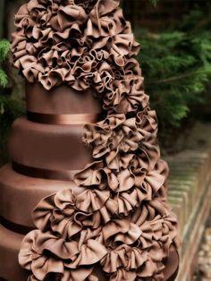 Awesome Chocolate Wedding Cake'