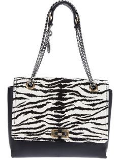 LANVIN - zebra print shoulder bag