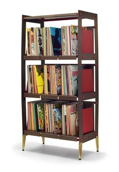 LP-V Series record shelving by Wax Rax holds up to 700 vinyl LPs. Record Shelf, Vinyl Record Storage, Record Cabinet, Crate Tv Stand, Vinyl Shelf, Crate Storage, Media Storage, Lp Storage, New Furniture