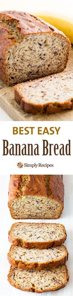 Bread Easiest banana bread ever! No need for a mixer! Delicious and easy, classic banana bread recipe. Most popular recipe on Easiest banana bread ever! No need for a mixer! Delicious and easy, classic banana bread recipe. Most popular recipe on Easy Banana Bread, Banana Bread Recipes, Easiest Banana Bread Recipe, Banana Bread With 2 Bananas, Banana Bread No Eggs, Super Moist Banana Bread, Banana Bread Baking Powder, Banana Bread Recipe No Baking Soda, No Butter Banana Bread