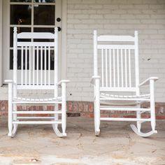 Slat Rocking Chair   White