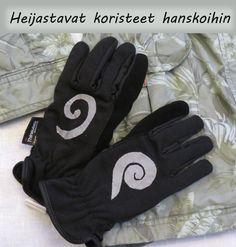 Ompele haijastinkankaasta koristeet hanskoihin