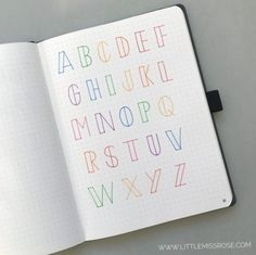 11 Simple Hand-Lettered Fonts For Your Bullet Journal · Little Miss Rose hand lettering drawing 11 Simple Hand-Lettered Fonts For Your Bullet Journal Bullet Journal Alphabet, Bullet Journal 2019, Bullet Journal Writing, Bullet Journal Ideas Pages, Bullet Journal Inspiration, Bullet Journal Hand Lettering, Bullet Journals, Bullet Journal For School, Bullet Journal Headings