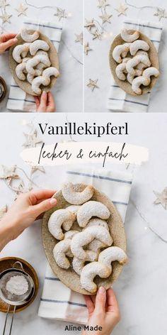 German Christmas Cookies, German Cookies, Vegan Christmas, Christmas Cooking, Christmas Desserts, Christmas Recipes, Crescent Cookie Recipe, Crescent Cookies, German Baking