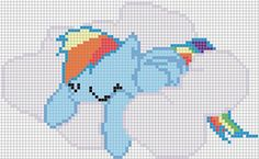 Minecraft Pixel Art Template MLP