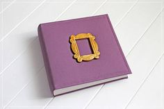 A friends photo album made in the style of the Friends TV Show. This custom photo book album is made especially for fans of the tv series. It decorated with the handmade frame, which resembles the famous yellow frame from the serial :) You can use this photo album like wedding guest book,