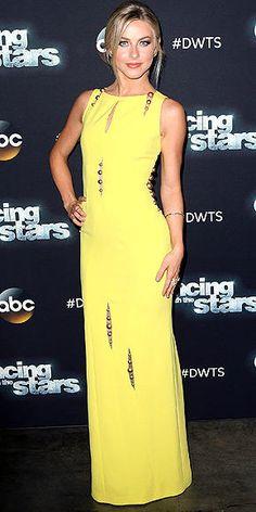 a50042da881 Julianne Hough in a yellow Paule Ka dress on Dancing With the Stars Derek  Hough