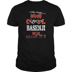 Never Imagined Supercool Basenji Mom Killing It   - Womens T-Shirt