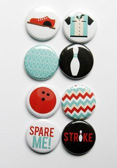 Bowling Flair by aflairforbuttons on Etsy, $6.00] #aflairforbuttons #flair #flairbuttons