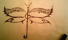 Dragonfly Music - Final Sketch by ~ZigJaG0390 on deviantART