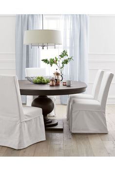 Arlington Bronze Chandelier   Crate and Barrel  Kitchen ChairsDining Room  ChairsDining TablesKitchen  Banks Extending Pedestal Dining Table  Medium  Alfresco Brown  . Arlington Round Sienna Pedestal Dining Room Table W Chestnut Finish. Home Design Ideas