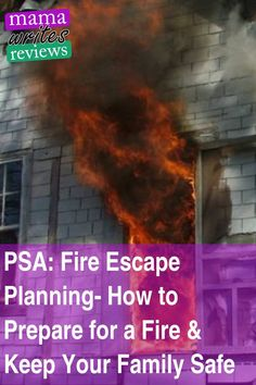 Fires happen. Theyre scary, theyre unfortunate, but they happen. Do you know what to do in the event of a house fire? Thanks to the Red Cross for this information and ideas. #psa #safety #safetytips #safetyfirst #safetytraining #firesafety #fireplanning #fireescape #mamawritesreviews #prevention #familysafety #familyplanning