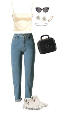 """""""Untitled #98"""" by pamgio ❤ liked on Polyvore featuring Chanel, Yves Saint Laurent, Christian Dior and Suzanne Kalan"""