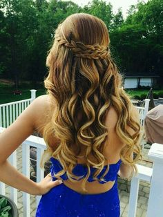 See more ideas about long hair styles braided hairstyles and short hair styles. Down hairstyles complement strapless dresses best. 31 Half Up Half Down Prom Hairstyles Hair Styles Long Prom Dance Hairstyles, 2015 Hairstyles, Night Hairstyles, Trendy Hairstyles, Teenage Hairstyles, Cute Hairstyles For Prom, Hairstyles For Graduation, Semi Formal Hairstyles, Beautiful Hairstyles