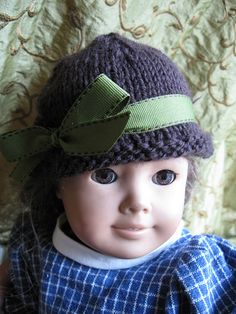 """knitted hat for 18"""" dolls"""