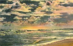 California Pacific Coast Sunrise Vintage Postcard unused