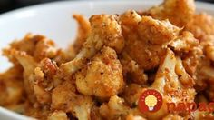 The Best Cauliflower Ever by Food Network -- cauliflower with a puree of garlic, red pepper, tofu, salt and pepper. (Well-- prob forego the tofu). Food Network Recipes, Cooking Recipes, Healthy Recipes, Lemon Recipes, Top Recipes, Copycat Recipes, Recipies, Dessert Recipes, Ree Drummond