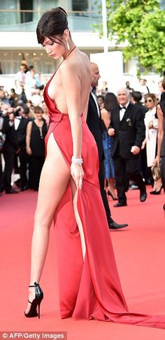 Look at her go! With her endless legs and perky cleavage, Bella proved exactly why she is taking the modelling world by storm