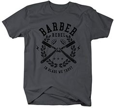 Shirts By Sarah Men's Barber Shirts In Blade We Trust T-Shirt For Barbers