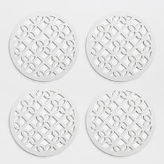 Openwork flower coasters (set of 4) - Coasters - Tableware | Zara Home United States