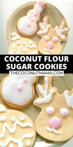 Healthy Sugar Cookies, Coconut Flour Cookies, Baking With Coconut Flour, Coconut Flour Recipes, Keto Cookies, Low Carb Desserts, Healthy Sweets, Gluten Free Desserts, Chip Cookies