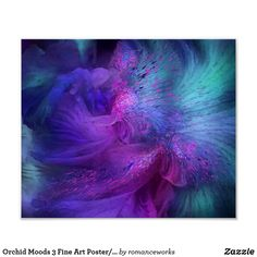 Shop Orchid Moods 3 Fine Art Poster/Print Poster created by romanceworks. Furniture Painting Techniques, Kunst Poster, Purple Orchids, Beautiful Posters, Tropical Art, My New Room, Custom Posters, Home Art, New Art