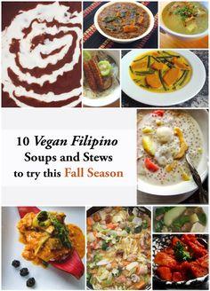 10 Vegan Filipino Soups and Stews for Fall #vegan #plantbased #whatveganseat #filipino #soups