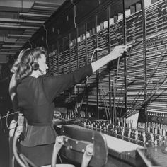 size: Photographic Print: Two Women Operating Switchboard During Chesapeake and Potomac Telephone Strike by Yale Joel : Artists