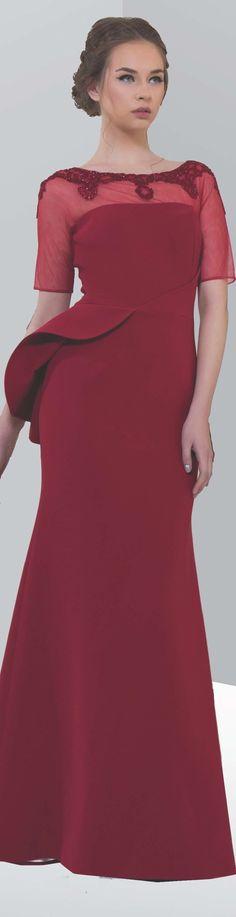 Edward Arsouni fall 2015/16 RTW burgundy maxi dress women fashion outfit clothing style apparel @roressclothes closet ideas